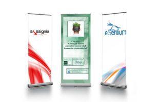 Expositor Roll-up personalizado, enrrollable, plegable y de facil transporte